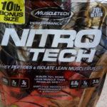 【Muscletech,NitroTech】ホエイアイソレートプロテイン4.5kgをレビュー!!【マッスルテック】